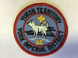 1985 York Adams Area Council York Imperial District Yukon Territory Pocket Patch
