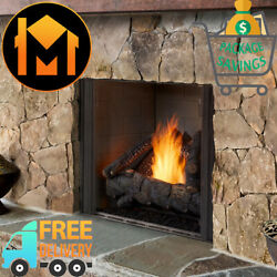 Majestic Courtyard Outdoor Gas Fireplace 42 With Traditional Basic Interior