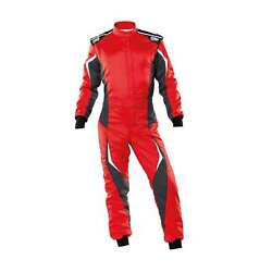 Omp Italy Tecnica Evo My21 Racing Suit Red Fia Homologation 52