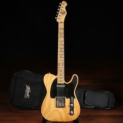 Mario Martin Guitars T-style W/ 1-pc Swamp Ash Body And Fralin Pus Andndash Vintage Amber