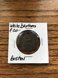 White Brothers amp; Company Willow Cafe Boston U.S.A. Token