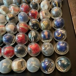 Nfl Vintage Gumball Machine Mini Helmets - Late 1970s - Lot Of 111 In Container