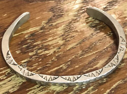 Navajo Sterling Bracelet Signed Ws- Willie Shaw Or Willie Saiz Free Shipping