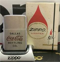 Zippo Lighter Coca-cola Red Dallas Bottling Co. Made In 1973 Unused From Japan