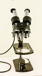 Carl Zeiss Jena Stereomicroscope Avec 4 Paires Objectifs Greenough-type Antique