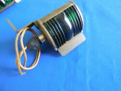 Antique Boat Brass Bow Light Red/green 40and039s Era W/glass Lens Nml Co. 2