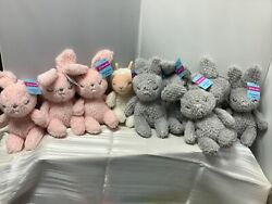 Easter Squish Roly Poly Farm Pals Plush Bunnies Light Up Headband Pink