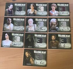 Cryptozoic The Walking Dead Season 3 Part 1 And 2 Autograph Wardrobe Complete Set