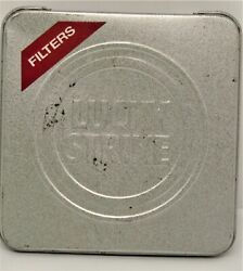Lucky Strike Filters Cigarette Tin Case Tobacco Silver Pack 20 Filter. B208
