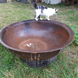 Syrup Kettle Cast Iron Antique Old Authentic Original 1800's Georgia 80 Gallons