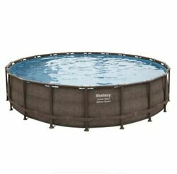 New Bestway Power Steel Deluxe Series 20and039 X 48 Above Ground Pool Set