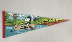 Snoopy Banner Pennant Flag Knott's Camp Beagle Scout Usa Vintage Woodstock