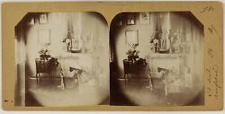 Inside D' A Home And Payasge France 2 Photos Stereo Vintage Albumin 1894