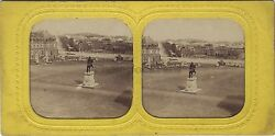 Versailles France Stereo Diorama Tissue Stereoview Vintage Albumin