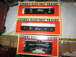 O/o-27 Lionel Ttos 1994 Ford Freight 3 Car Set In Boxes. 52029, 52030, 52031.