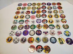 Vintage Pogs Skull Undead Lot Of 70+ Toys Game Collectables