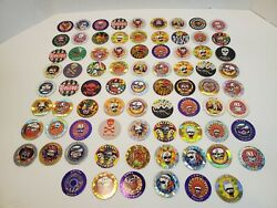 Vintage Pogs Pure Poison Lot Of 70+ Toys Game Collectables
