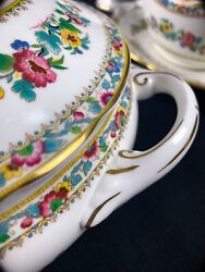 Coalport Wedgwood Ming Rose China 12 Place Settings + 7 Serving Pieces Mint