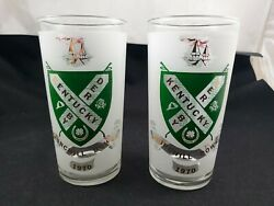 Kentucky Derby 1970 50th Year Anniversary Churchill Downs Collectors Glasses Set