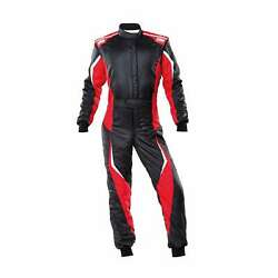 Omp Italy Tecnica Evo My21 Racing Suit Black-red Fia Homologation 58