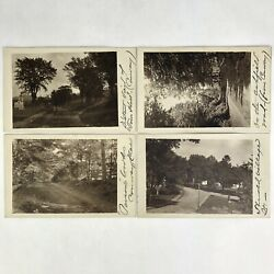 Antique 4 Postcard Lot Florence Howland Female Photographer Conway Ma Signed