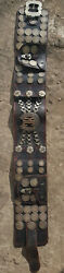 Argentina Original Leather-gold-silver Gaucho Belt With 50 Silver Coins Ca1800andacute