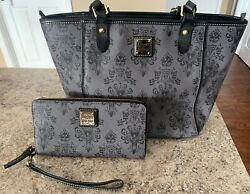 Bo Rare Dooney And Bourke Purse And Wallet Disney's Haunted Mansion Grey Wallpaper