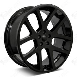 22 Viper Style Gloss Black Wheels Fits Dodge Challenger Charger Rwd