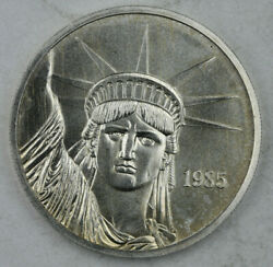 1985 Mtb Trade Unit Made By Engelhard 1 Ounce .999 Silver Round