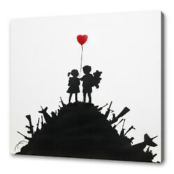 Kids And Guns Graffiti Wall Art Canvas Print Picture Free Fast Uk Delivery