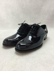 Hermes Patent Derby Dress 42 Leather Black Size 42 Dress Shoes 1447 From Japan