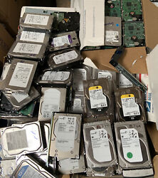 Large Lot Of 500 Computer Hard Drives Scrap Gold Platinum Recovery