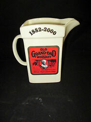 Vintage 1882-2000 Old Grand-dad Whiskey Pitcher Limited Edition No. 1 Of 200