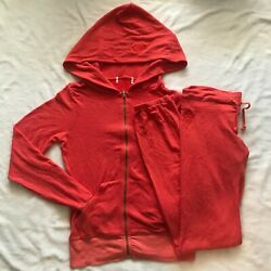 New Wildfox Red Zip Up Jacket Hoodie And Bottom Set Brand New Authentic Size S