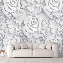 Nwt Wall Murals For Bedroom Beautiful 3d View Pattern Flowers Removable Peel And