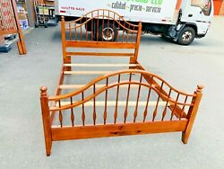 Beautiful Antique Solid Cherry Wood Queen/ Full Size 4-poster Bed Frame