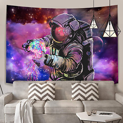 KamaLove Trippy Astronaut Wall Tapestry Psychedelic Outer Space Galaxy Tapestri
