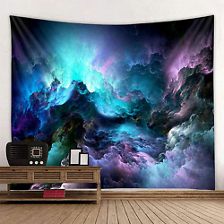 Yeacun Galaxy Tapestry Blue Starry Sky Universe Space Tapestry Wall Hanging Psyc