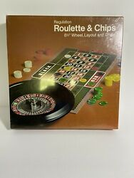 Vintage Roulette Game With Chips Casino New Sealed From 1974
