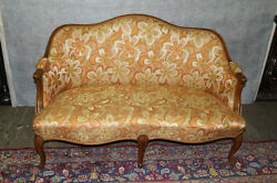 French Louis Xv Walnut Loveseat Circa 1920and039s New Upholstery