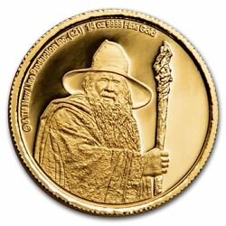 2021 1/4 Oz Gold Coin 25 The Lord Of The Rings Gandalf The Grey - Sku231908
