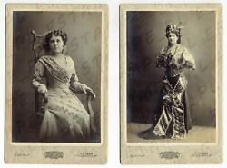 Cdv Cabinet Photo Russian Woman Dancer Ballet Or Theater Moscow Lot Of 2 7134