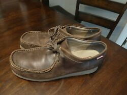 Clarks Leather Stinson Bees Wax Crepe Sole Chucka Desert Boot Shoes Size 11.5