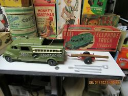 Bell Telephone Truck Hubley Diecast N Mint In Box All Accessories 1950s Works