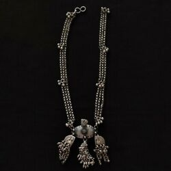 Pure 925 Sterling Silver Necklace Tribal Antique Vintage Jewelry 224
