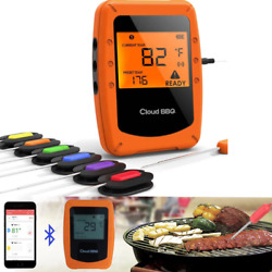 Wireless Meat Thermometer With 6 Probes Bluetooth Digital Bbq Grill Thermometer