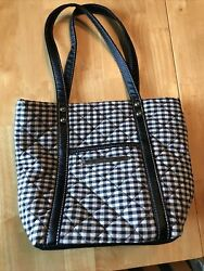 New Longaberger Plaid Fabric Tiny Tote Homestead Lunch Bag Purse