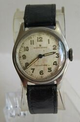 Rolex Oyster 1945 Vintage Gents Watch 4444 Military Dial Working