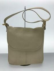Coach Leather 4115 Old Classic Retro Antique Leather White Shoulder Bag