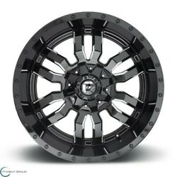 Set Of 2 New Fuel Offroad Sledge D595 22x10 8x165.1 -18 Gloss Black Milled